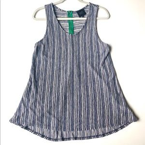 W5 Anthropologie Knit Tunic Top Blue Stripe Large